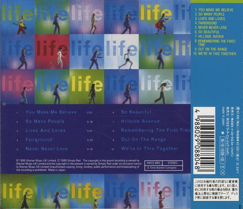 Simply Red Life CD album (CDLP) Japanese REDCDLI49750