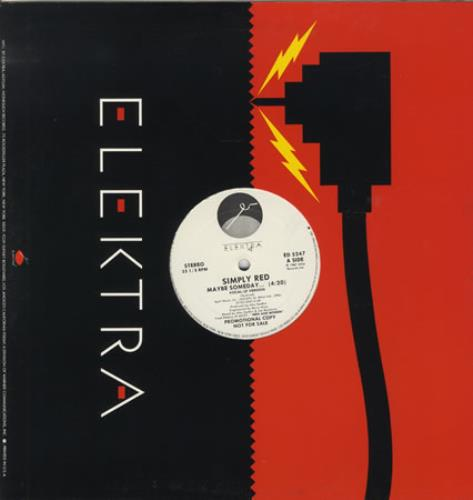 """Simply Red Maybe Someday 12"""" vinyl single (12 inch record / Maxi-single) US RED12MA26316"""