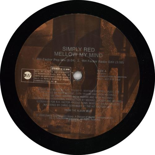"""Simply Red Mellow My Mind 12"""" vinyl single (12 inch record / Maxi-single) US RED12ME123427"""