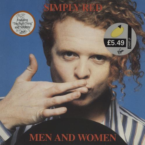 Simply Red Men And Women - Hype & Price stickered vinyl LP album (LP record) UK REDLPME698980