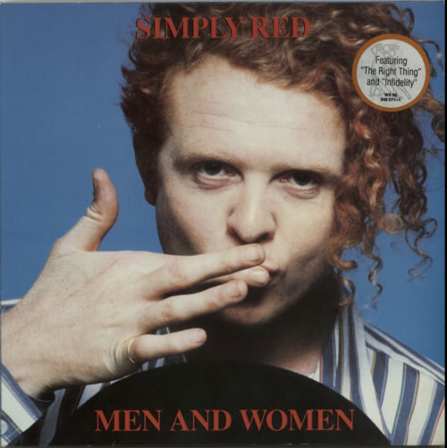 Simply Red Men And Women - Hype Stickered Sleeve vinyl LP album (LP record) UK REDLPME604519