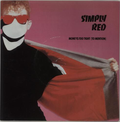 """Simply Red Money's Too Tight (To Mention) - Die-Cut Sleeve 7"""" vinyl single (7 inch record) UK RED07MO687027"""