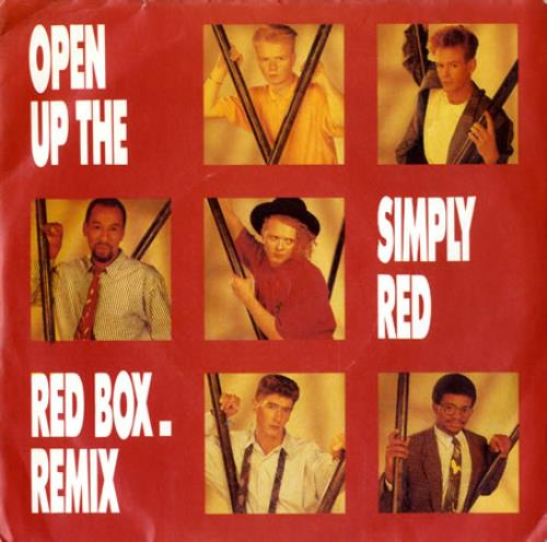 """Simply Red Open Up The Red Box - Remix 7"""" vinyl single (7 inch record) UK RED07OP463467"""
