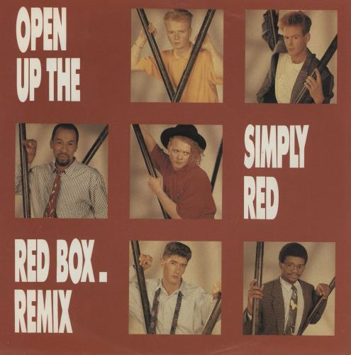 """Simply Red Open Up The Red Box - Remix 7"""" vinyl single (7 inch record) UK RED07OP758600"""