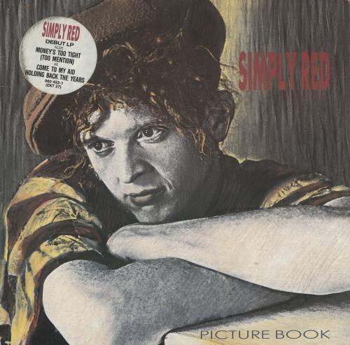 Simply Red Picture Book + Inner - Stickered vinyl LP album (LP record) UK REDLPPI631002