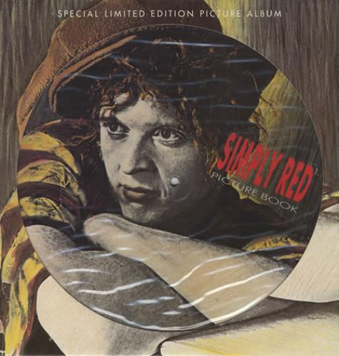 Simply Red Picture Book Uk Picture Disc Lp Vinyl Picture