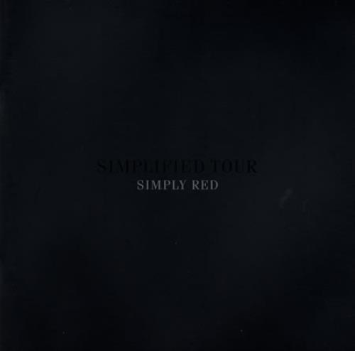Simply Red Simplified Tour Programme tour programme UK REDTRSI383637