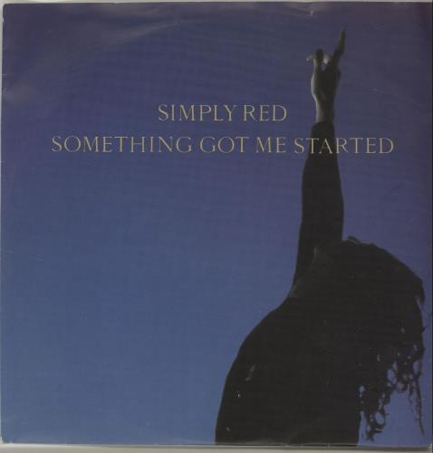 """Simply Red Something Got Me Started 7"""" vinyl single (7 inch record) UK RED07SO687240"""