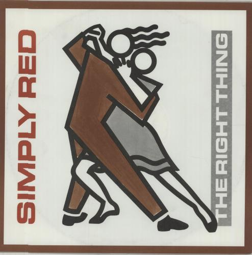 """Simply Red The Right Thing 12"""" vinyl single (12 inch record / Maxi-single) UK RED12TH27956"""
