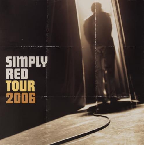 Simply Red Tour 2006 tour programme UK REDTRTO383639