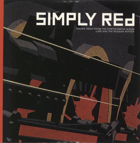 """Simply Red Tracks Taken From Love And The Russian Winter CD single (CD5 / 5"""") UK REDC5TR146598"""