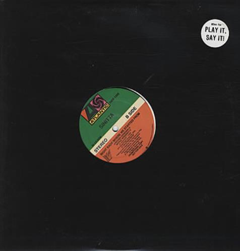 """Sinitta Right Back Where We Started From 12"""" vinyl single (12 inch record / Maxi-single) US SIT12RI158169"""