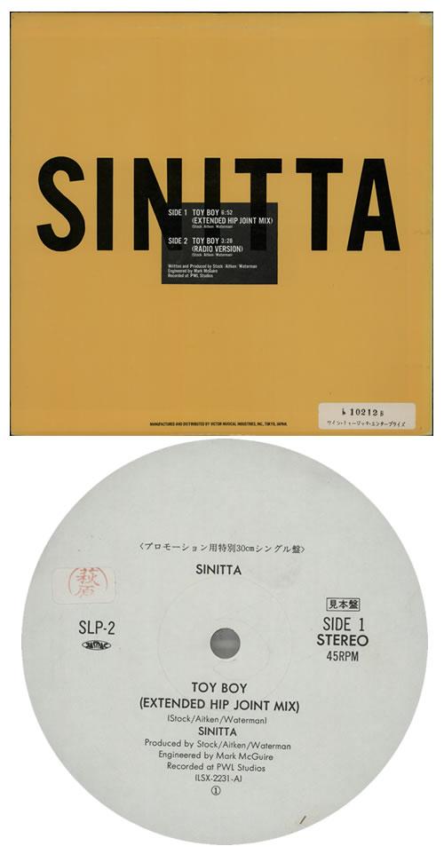 "Sinitta Toy Boy 12"" vinyl single (12 inch record / Maxi-single) Japanese SIT12TO275568"