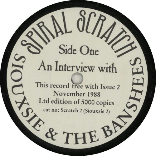 "Siouxsie & The Banshees An Interview With Siouxsie & The Banshees 7"" vinyl single (7 inch record) UK SIO07AN688400"