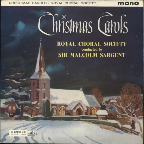 Sir Malcolm Sargent Christmas Carols vinyl LP album (LP record) UK YI0LPCH749265