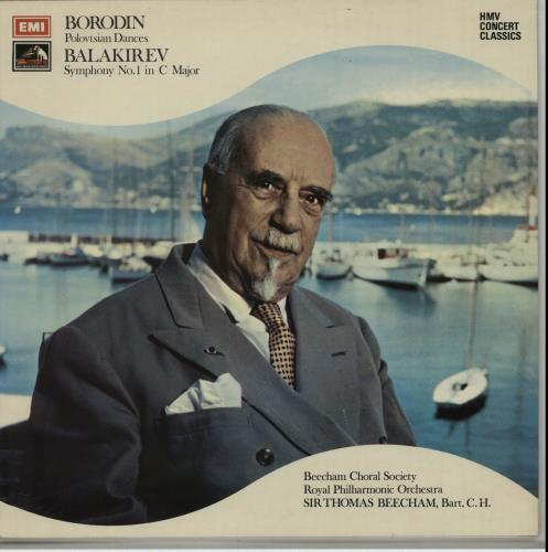 Sir Thomas Beecham Balakirev: Symphony No. 1 in C Major / Borodin: Polovtsian Dances vinyl LP album (LP record) UK U3RLPBA651373