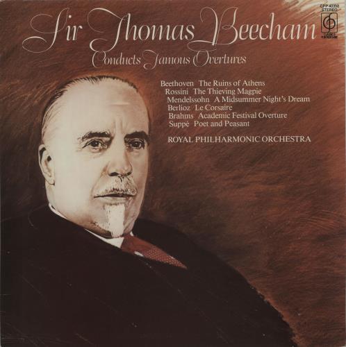 Sir Thomas Beecham Famous Overtures vinyl LP album (LP record) UK U3RLPFA674051