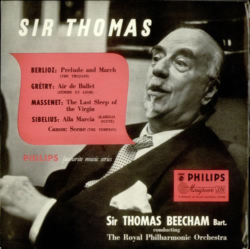 "Sir Thomas Beecham Prelude and March, Air de Ballet, etc... 10"" vinyl single (10"" record) UK U3R10PR540322"