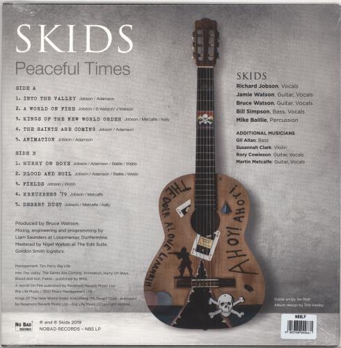 Skids Peaceful Times - White Vinyl vinyl LP album (LP record) UK SKDLPPE724803
