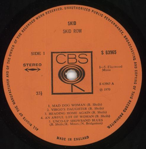 Skid Row (70s) Skid - 1st - EX vinyl LP album (LP record) UK KIWLPSK723572