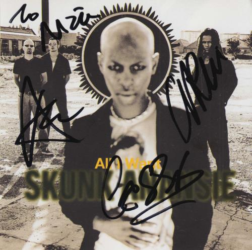 Skunk Anansie All I Want - Autographed 2-CD single set (Double CD single) UK SKU2SAL729345