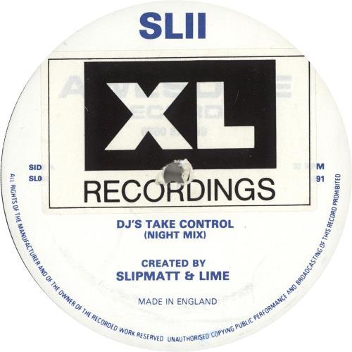 """SL2 DJ's Take Control (Night Mix) 12"""" vinyl single (12 inch record / Maxi-single) UK SL212DJ704101"""