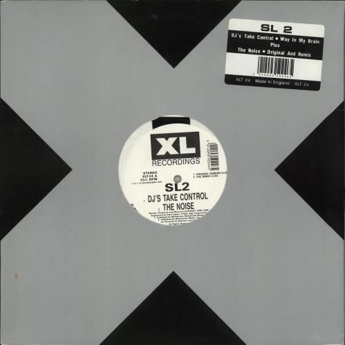 "SL2 DJ's Take Control / Way In My Brain 12"" vinyl single (12 inch record / Maxi-single) UK SL212DJ648745"