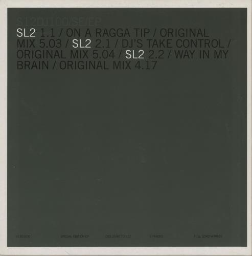 "SL2 XL EP 12"" vinyl single (12 inch record / Maxi-single) UK SL212XL261340"