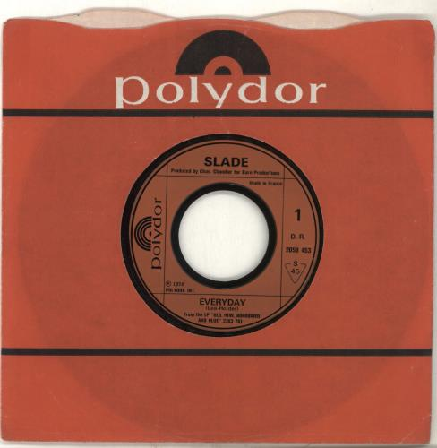 "Slade Everyday - wide 7"" vinyl single (7 inch record) French SDE07EV702138"