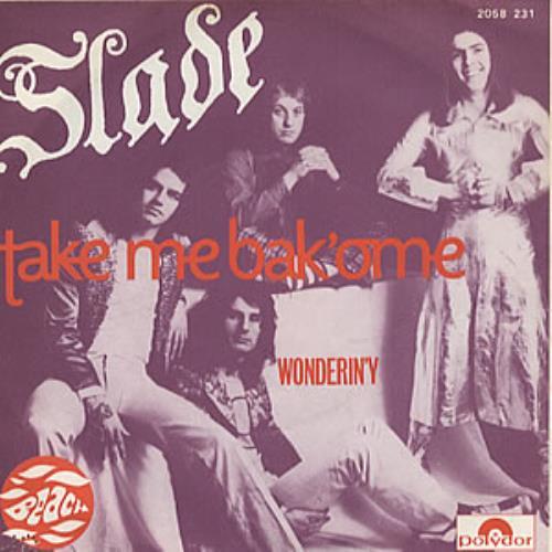"""Slade Take Me Bak'ome 7"""" vinyl single (7 inch record) French SDE07TA228880"""