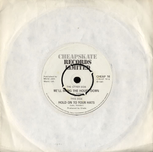"""Slade We'll Bring The House Down 7"""" vinyl single (7 inch record) UK SDE07WE587443"""