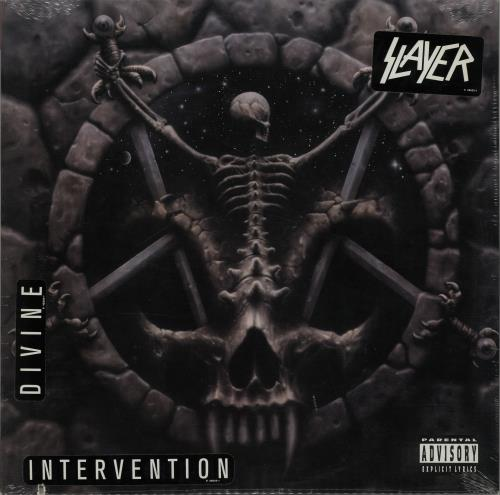 Slayer Divine Intervention - Red Vinyl - Sealed vinyl LP album (LP record) US SLALPDI650440