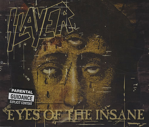 "Slayer Eyes Of The Insane CD single (CD5 / 5"") UK SLAC5EY428817"