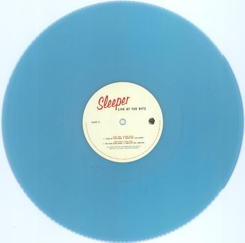 "Sleeper Live At The Ritz - RSD19 - Atlantic Pearl Vinyl + Autographed 12"" vinyl single (12 inch record / Maxi-single) UK SLP12LI775839"