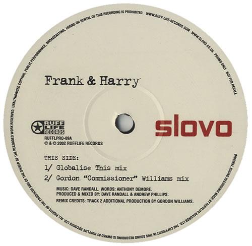 """Slovo Frank & Harry 12"""" vinyl single (12 inch record / Maxi-single) UK OVO12FR438639"""