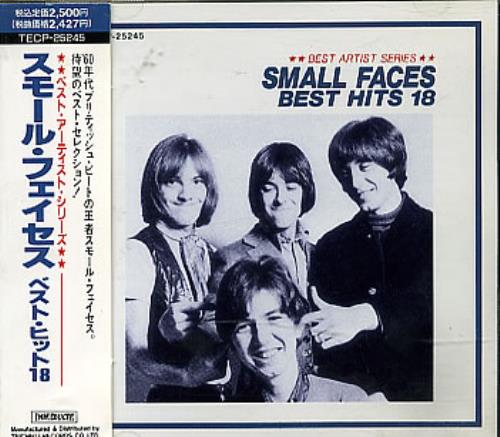 Small Faces Best Hits 18 Japanese Cd Album Cdlp 289704
