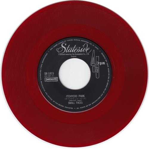 """Small Faces Itchycoo Park - Red Vinyl 7"""" vinyl single (7 inch record) Japanese SMF07IT653611"""