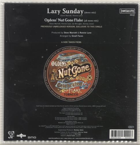 """Small Faces Lazy Sunday - RSD18 - Luminous Vinyl 7"""" vinyl single (7 inch record) UK SMF07LA694811"""