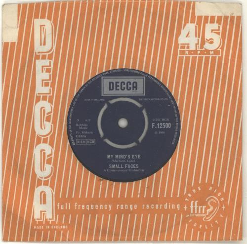"Small Faces My Mind's Eye - 1st - VG 7"" vinyl single (7 inch record) UK SMF07MY697471"