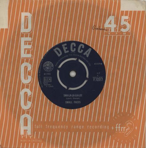 "Small Faces Sha-La-La-La-Lee - Proper 7"" vinyl single (7 inch record) UK SMF07SH756646"