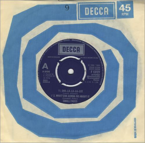 "Small Faces Sha-La-La-La-Lee 7"" vinyl single (7 inch record) UK SMF07SH401517"