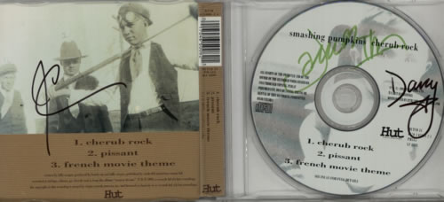 "Smashing Pumpkins Cherub Rock - Fully Autographed CD single (CD5 / 5"") UK SMPC5CH607152"