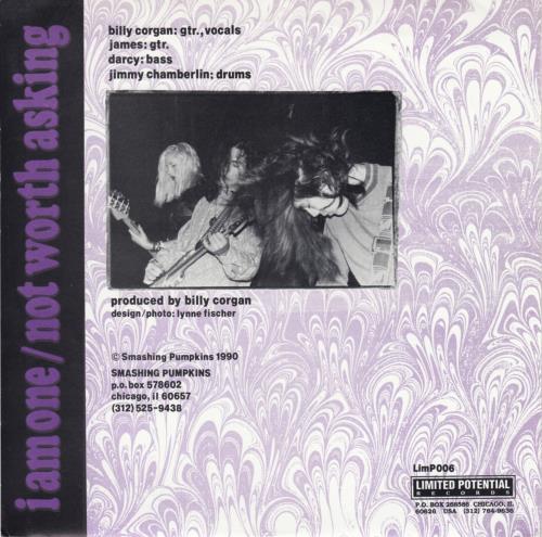 "Smashing Pumpkins I Am One 7"" vinyl single (7 inch record) US SMP07IA80068"