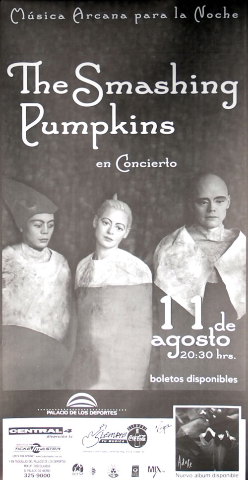 Smashing Pumpkins Palacio De Los Deportes poster Mexican SMPPOPA583874