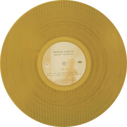 Smashing Pumpkins Pisces Iscariot - Gold Vinyl vinyl LP album (LP record) US SMPLPPI47052