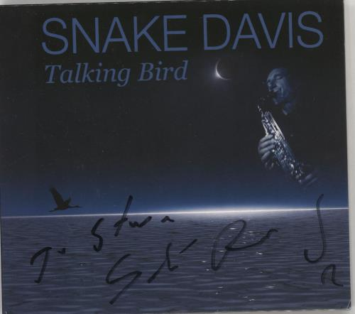 Snake Davis Talking Bird - Autographed CD album (CDLP) UK 0NBCDTA728225