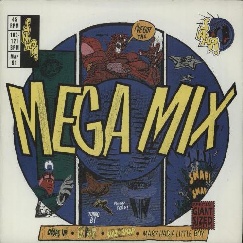 "Snap! Mega Mix 7"" vinyl single (7 inch record) UK SNP07ME659539"