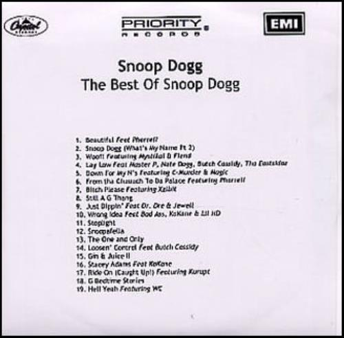 Snoop Doggy Dogg The Best Of Snoop Dogg UK CD-R acetate