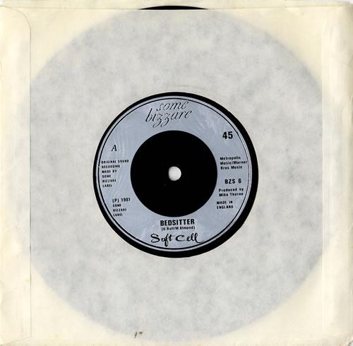 "Soft Cell Bedsitter 7"" vinyl single (7 inch record) UK SOF07BE588201"