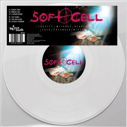 """Soft Cell Cruelty Without Beauty (2020 Extended Mixes) - White Vinyl 12"""" vinyl single (12 inch record / Maxi-single) UK SOF12CR758034"""